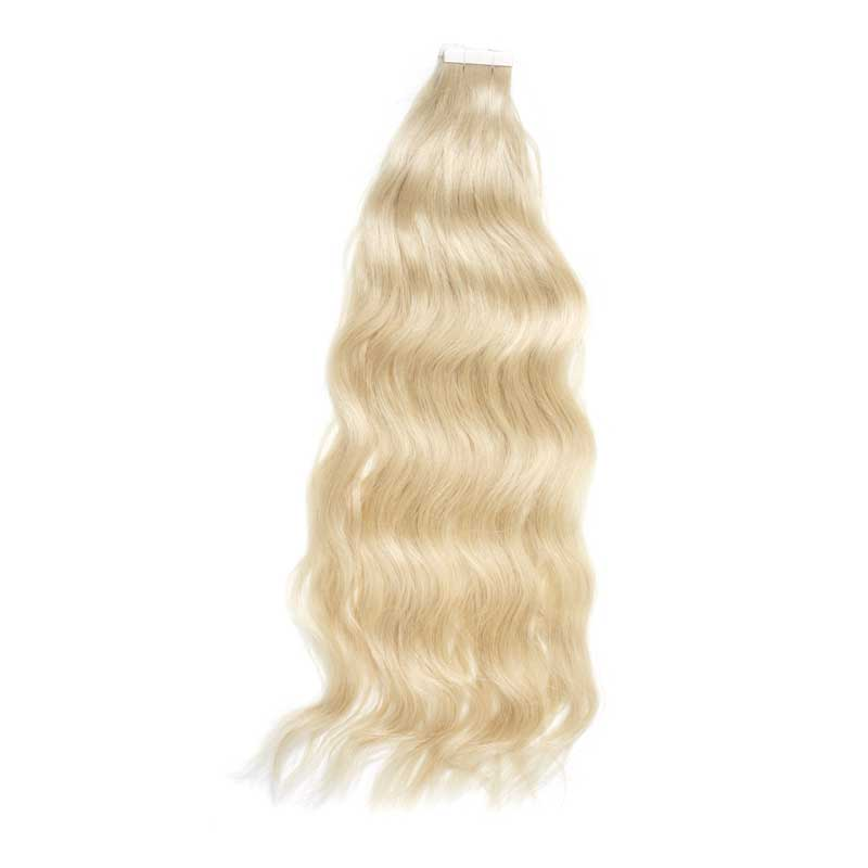 blond hair sample