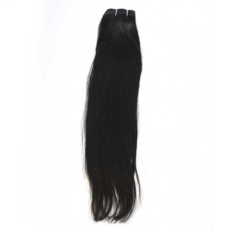 straight hair sample