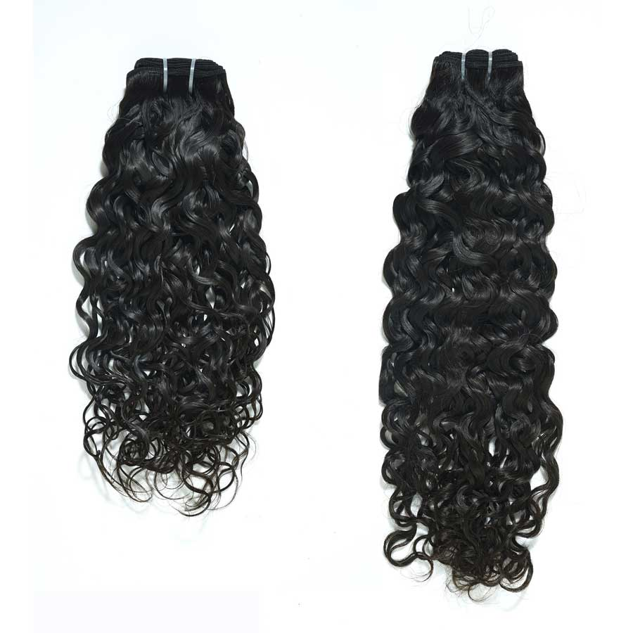 wet wavy hair sample
