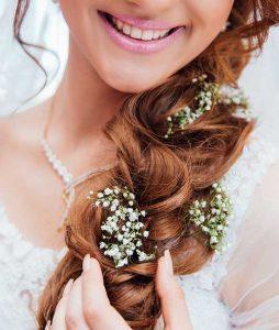 bride with long braid