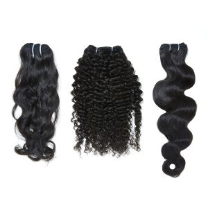 three bundles of hair