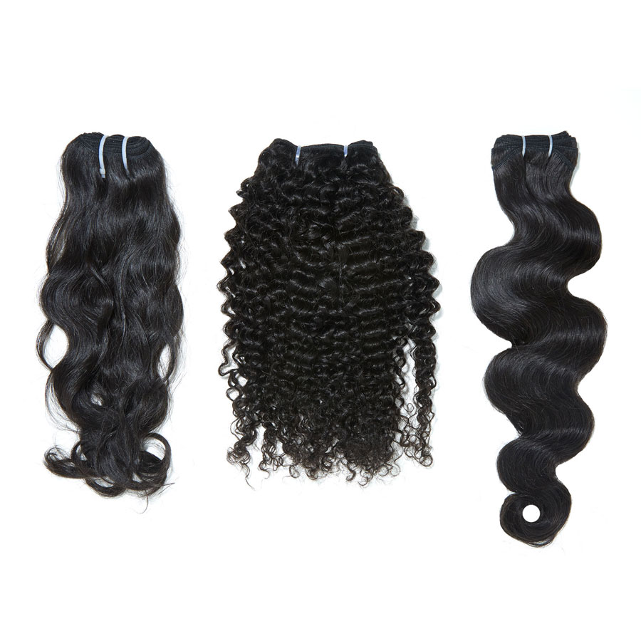 three bundles of hair